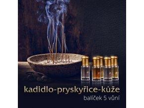Sada kožených parfémů - Sahra al Aswad, Cuir Brulant, White Oudh 3 x 3 ml parfémový olej