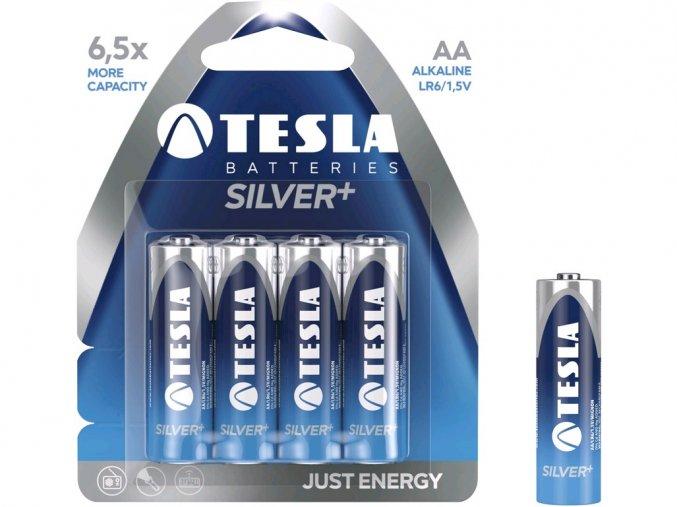 Baterie TESLA AA Silver+