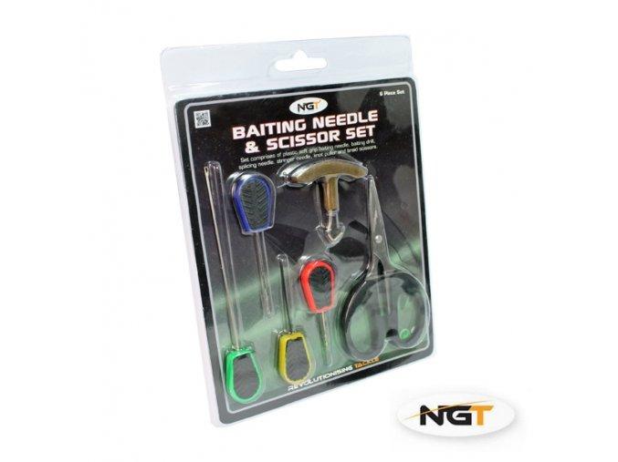 2368 1 ngt tackle ngt sada 6ks baiting needle scissor set