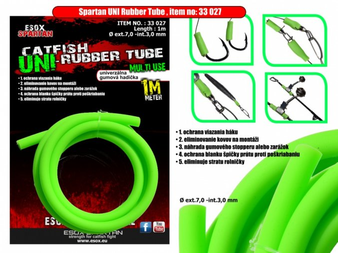 3574 1 esox spartan uni rubber tube 1m