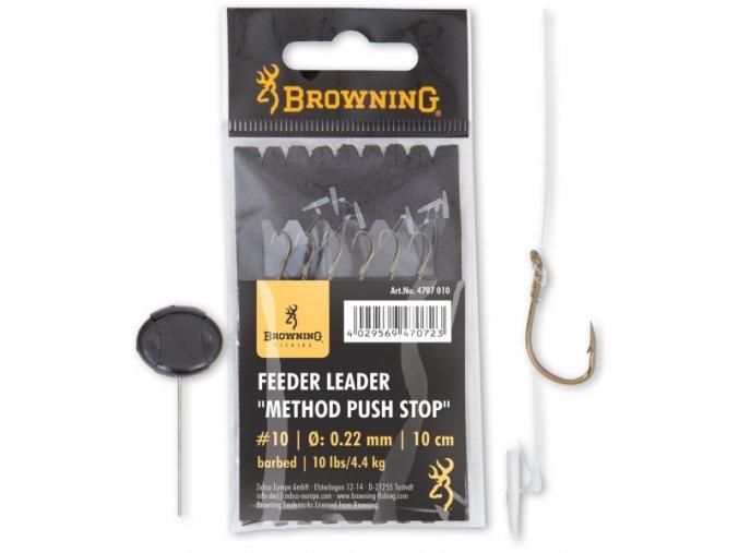 Feeder Leader Method Push Stop bronze 10cm 6ks (Veľkosť 14)