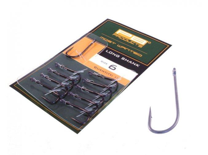 PB Products Long shank hook DBF - 10ks/bal (Veľkosť 8)