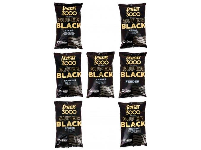 3000 SUPER BLACK - 1KG (príchuť BREAM (PLESKÁČ))