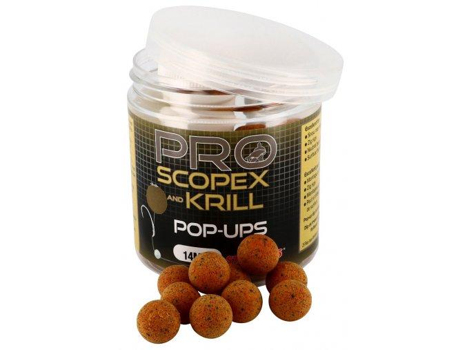 PROBIO POP UP BOILIES (priemer 14 mm, príchuť SCOPEX KRILL)