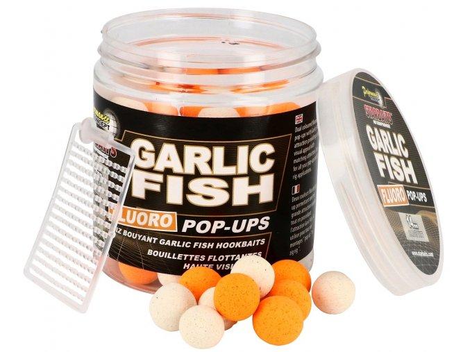 FLUO POP UP BOILIES (priemer 14 mm, príchuť GARLIC FISH)