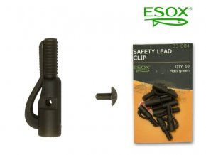 esox safety lead clip 10 ks original