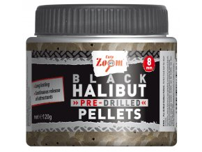 Pre-Drilled Black Halibut Pellets (priemer 20 mm)