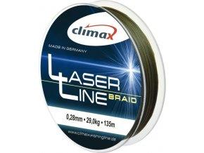 Climax šnúra 135m - Laser Braid line Olive SB (dlžka 135 m, priemer 0,14 mm)