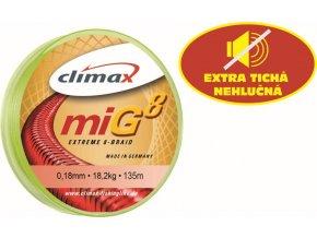 Climax šnúra 135m - MIG 8 Braid Olive SB (dlžka 135 m, priemer 0,18 mm)