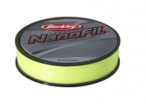 Berkley Vlasec Nanofil Fluo žltá 125 m (priemer 0,28 mm / Nosnosť 20,126 kg)