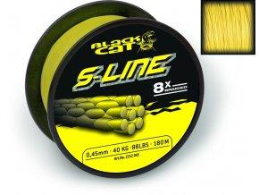 BLACK CAT ŠNÚRA S-LINE 180M - ŽLTÁ (VARIANT Ø0,45MM - 180M - 50KG,110LBS)