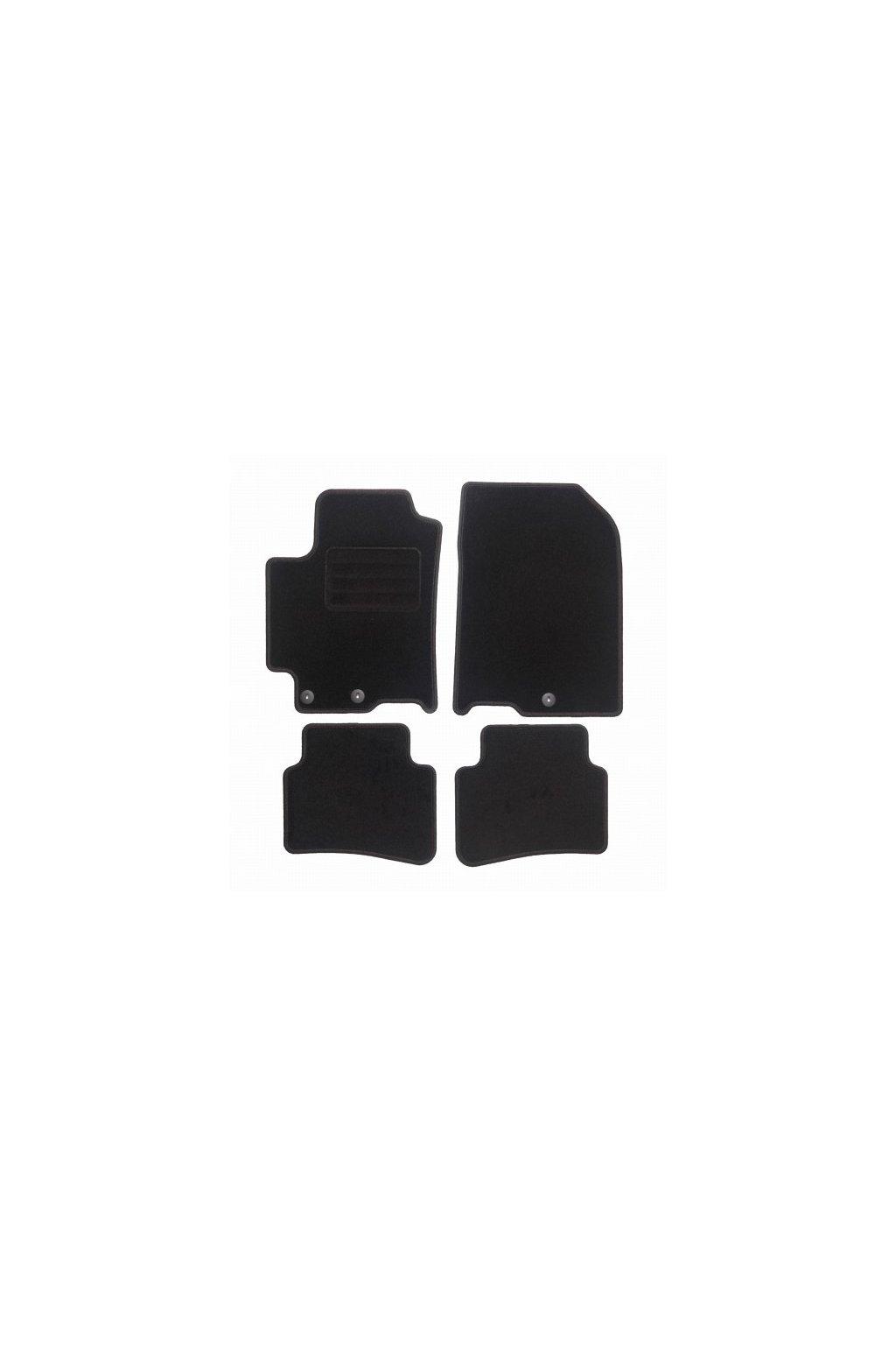 Koberce textilni ACR Kia Rio IV 2017- černá