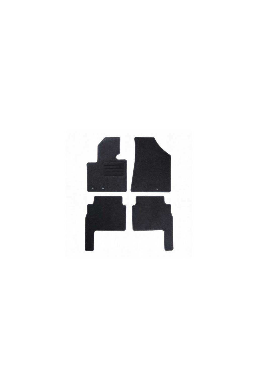 Koberce textilni ACR Kia Sorento II 2009-2012 černá