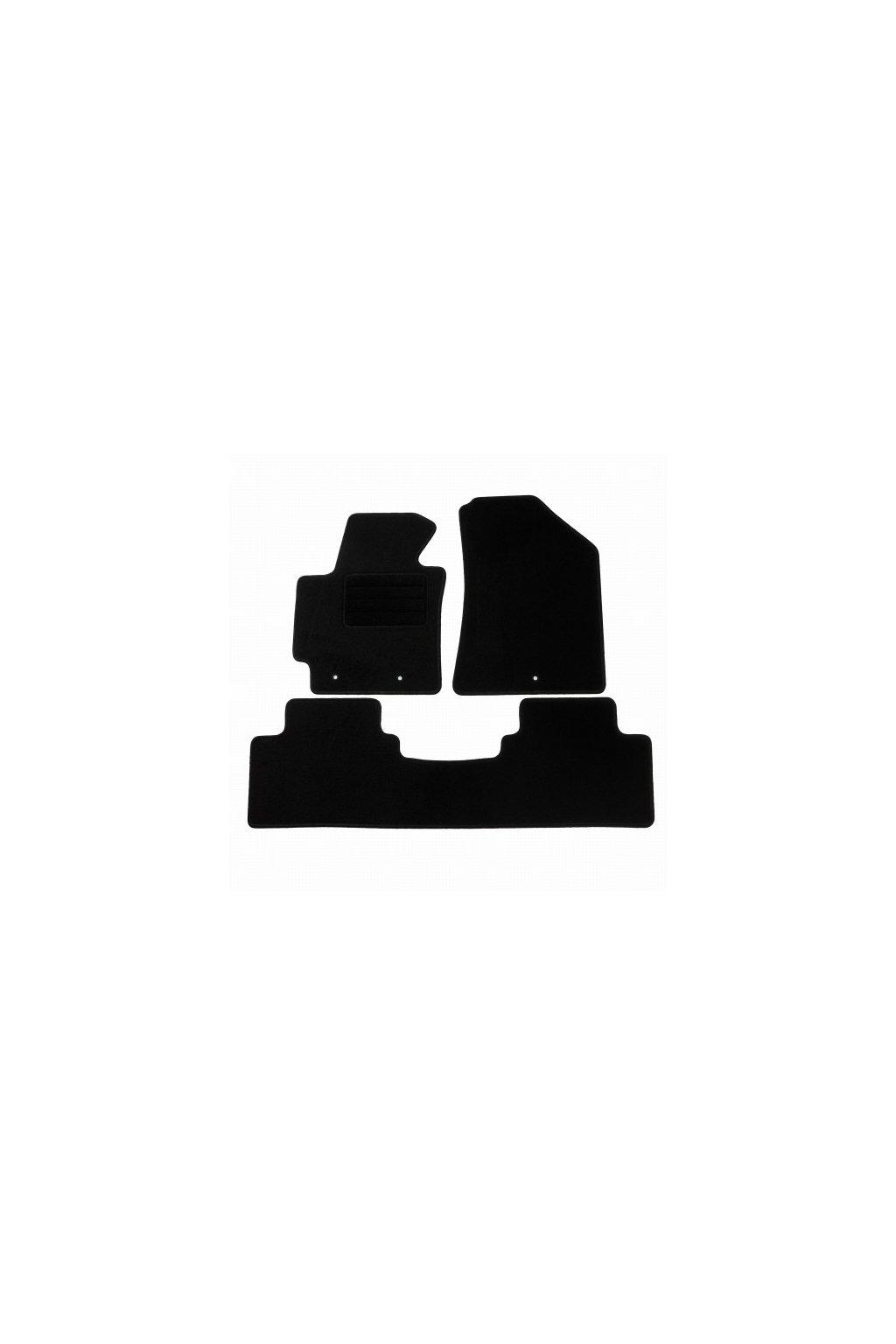Koberce textilni ACR Kia Soul II [PS] 2013-2018 černá