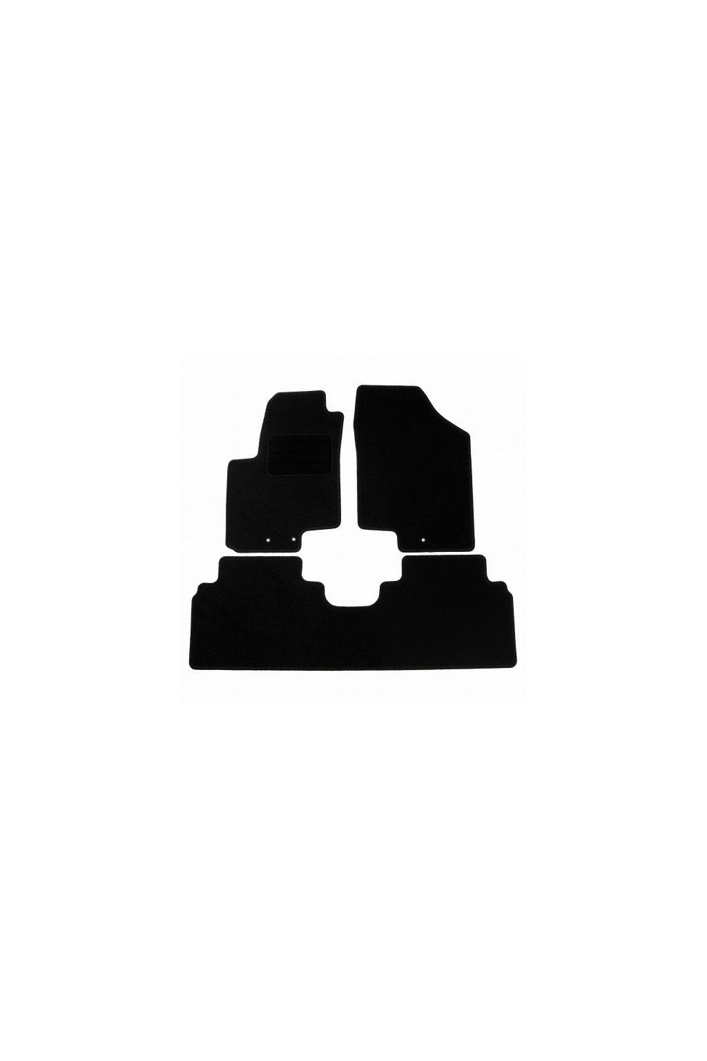 Koberce textilni ACR Kia Venga YN 2009- černá