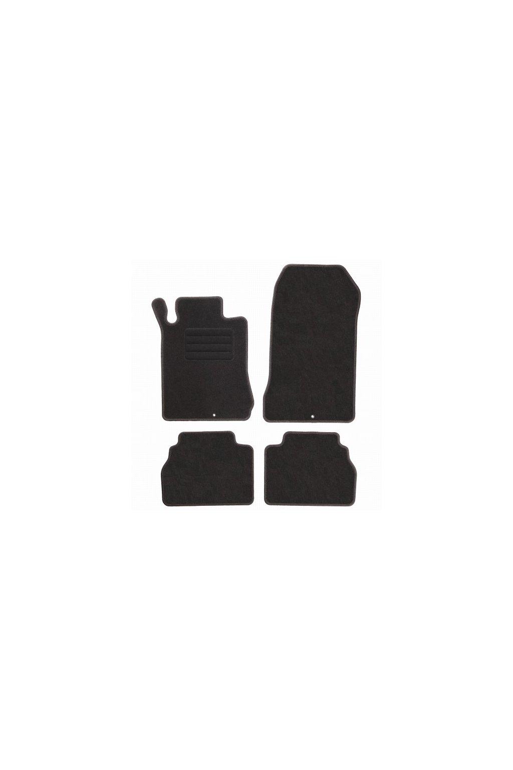 Koberce textilni ACR Mercedes-Benz E-KLASSE W210 1995-2003 černá