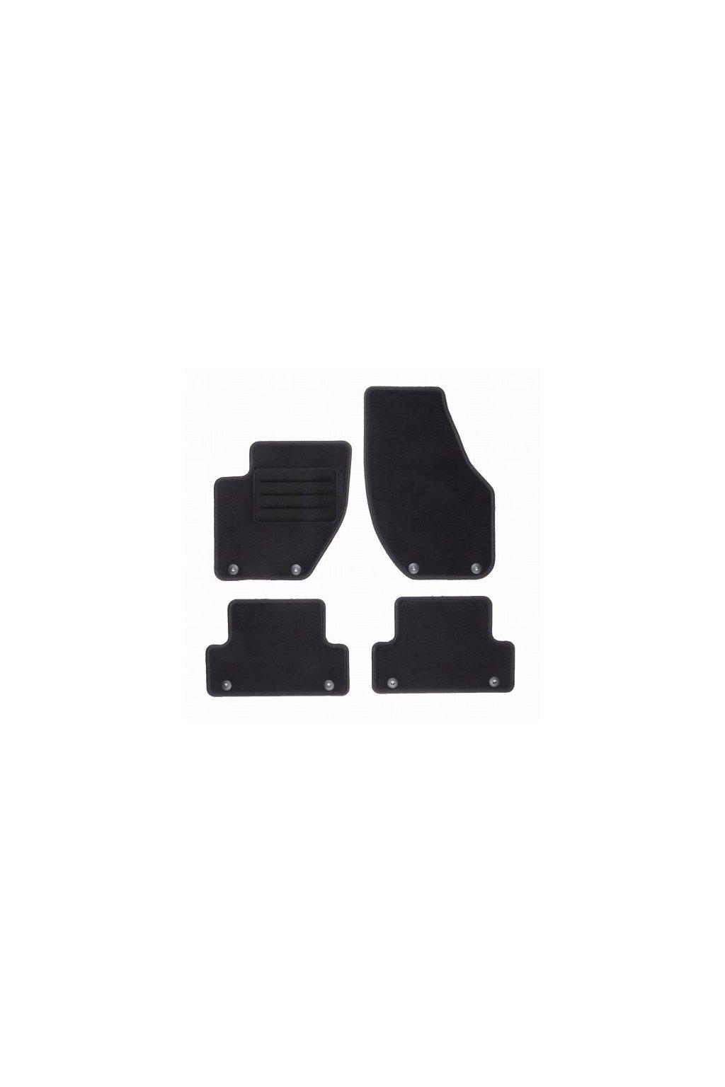 Koberce textilni ACR Volvo V40 II 2012-2019 černá