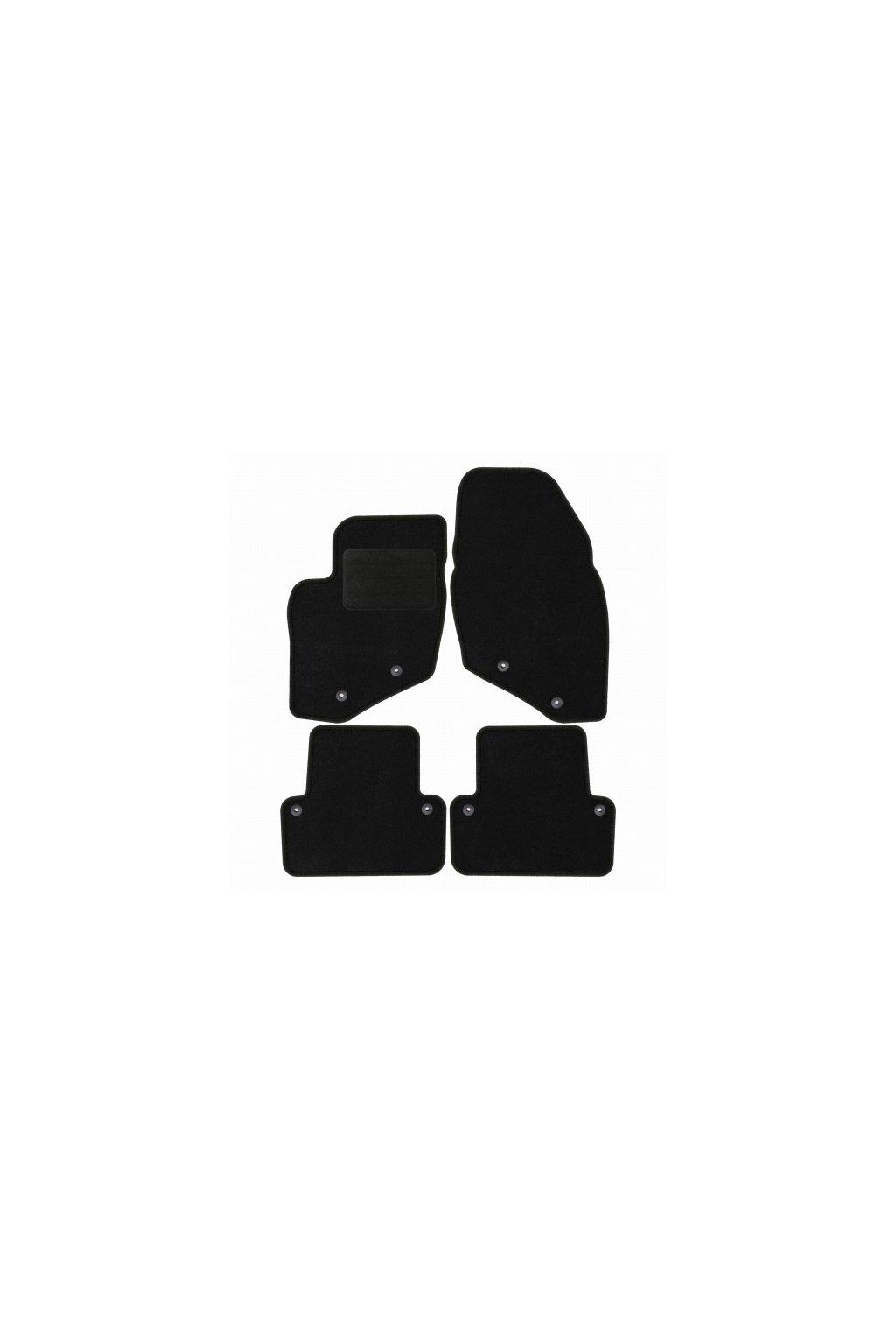 Koberce textilni ACR Volvo V70 II 2000-2007 černá