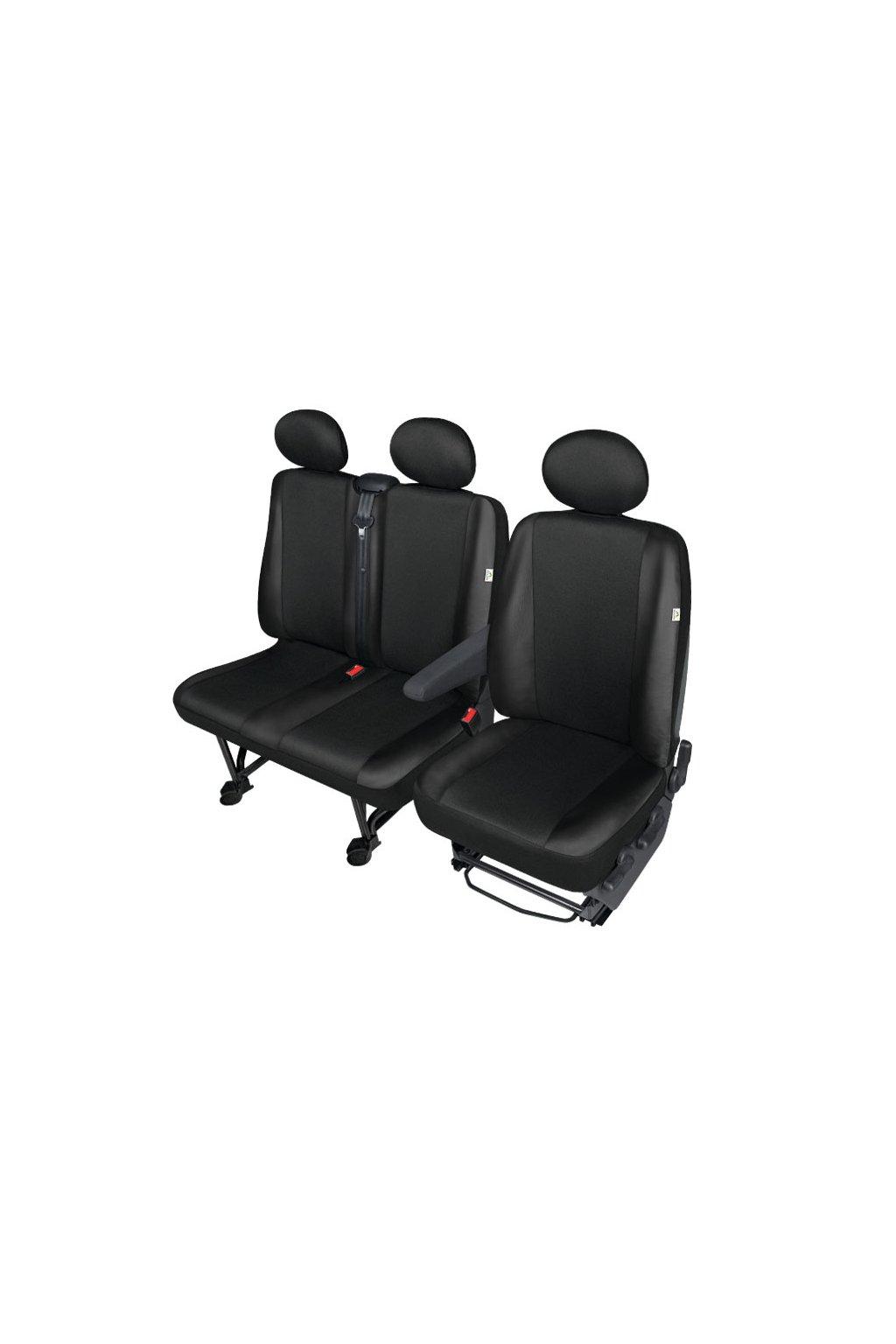 """AUTOPOTAH """"ARC"""" FIAT DUCATO koženka černá SADA 7 KS"""