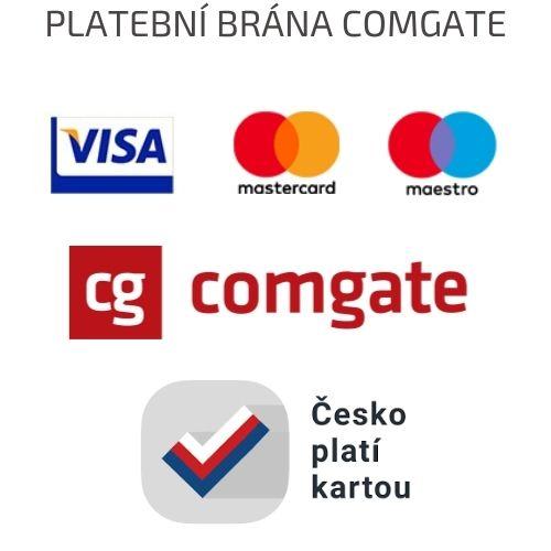 Loga karet a akce Česko platí kartou