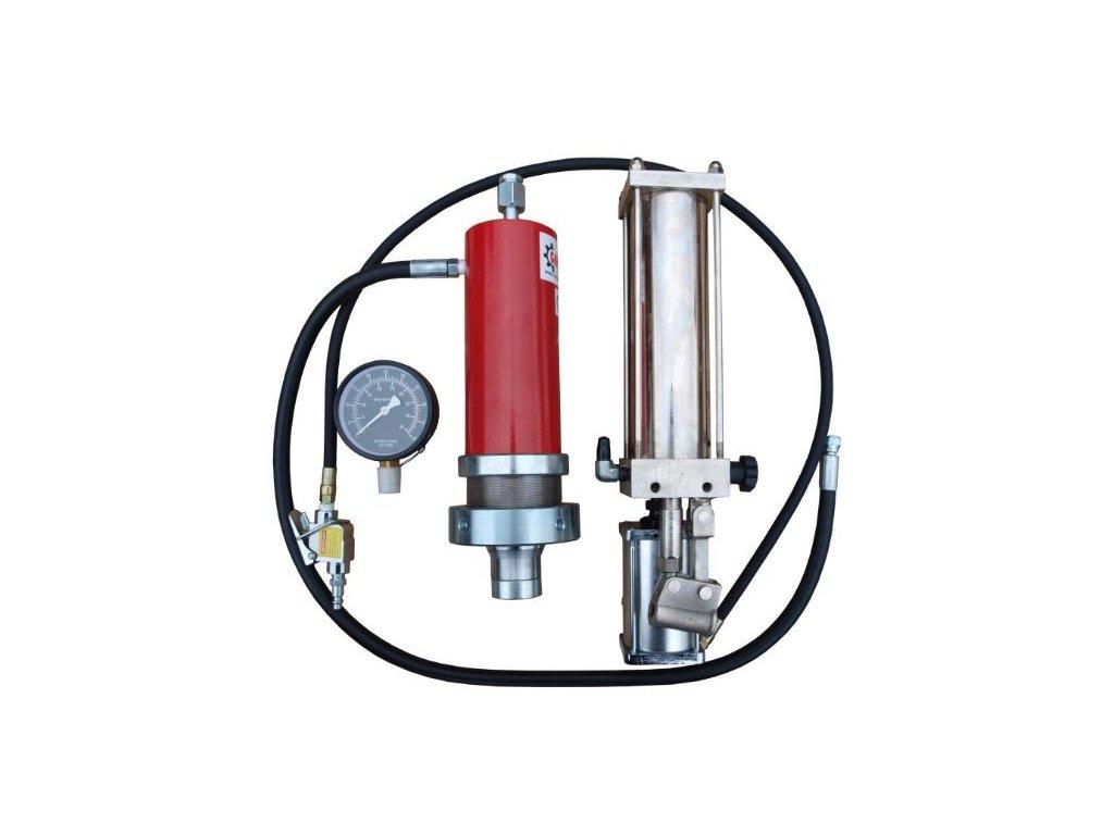 Sestava k lisu 30 t s hydraulicko-pneumatickou pumpou