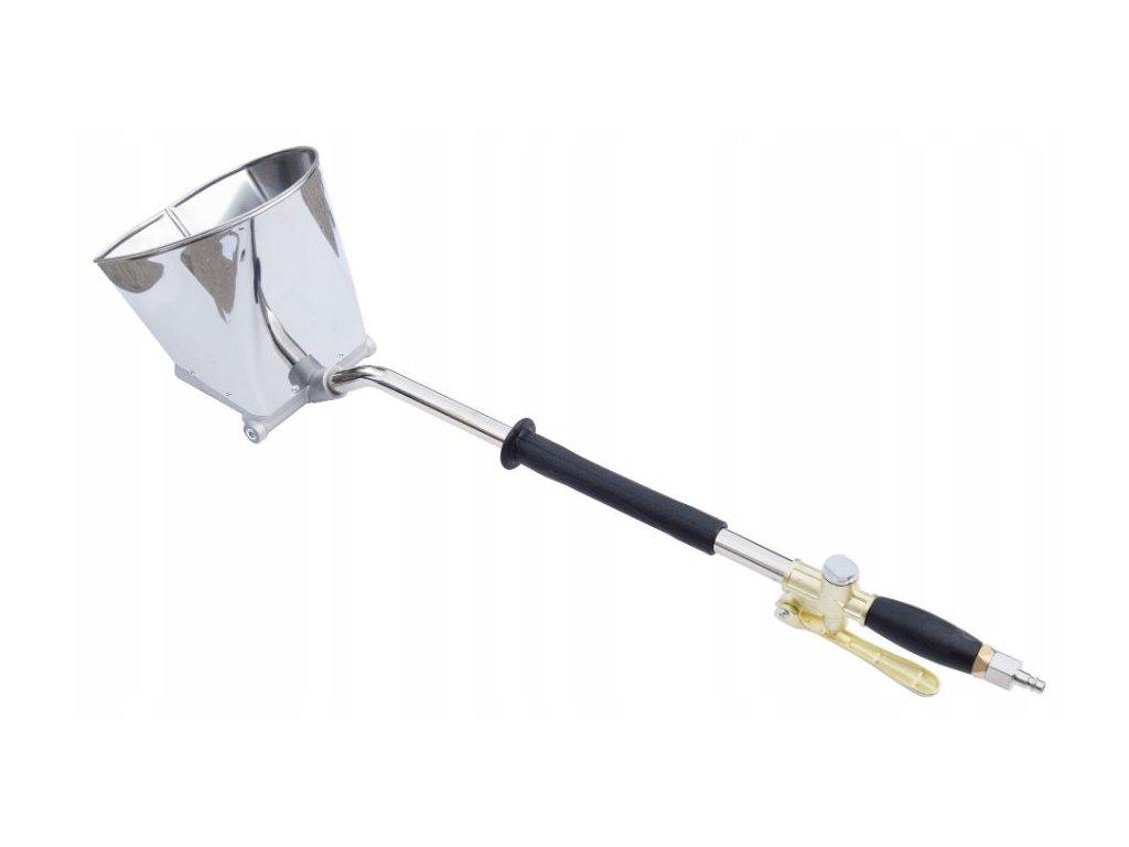 Stříkací, omítací pistole na stropy s nerezovým zásobníkem VORFAL, V01008