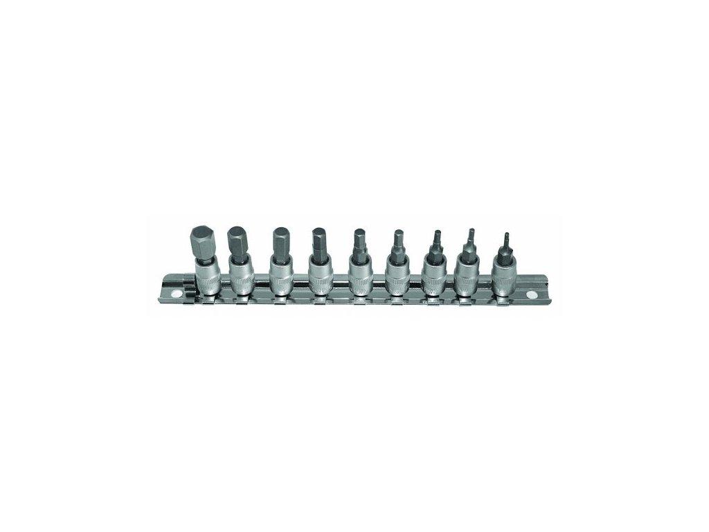 Sada nástrčných klíčů HEX 1/4 9 ks, 720SET9