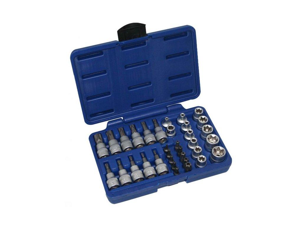 Sada nástrčných klíčů a bitů TORX 34 ks, A-TXSET34
