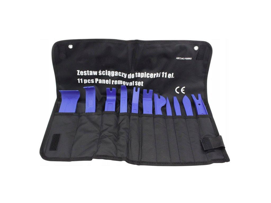 Sada na demontáž čalounění, páčidélka a vytahováky na spony čalounění 11 ks, F05002