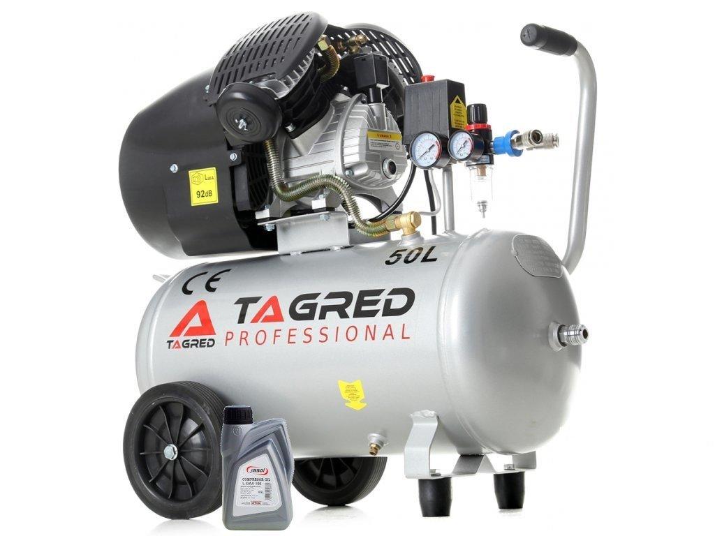Olejový kompresor 50l, 230V s odlučovačem, TAGRED TA360