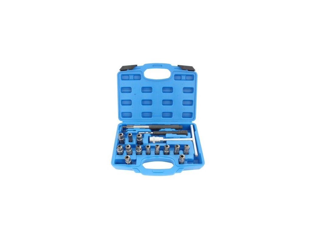 Frézy na sedla vstřikovačů, sada 17 kusů - QUATROS QS20682