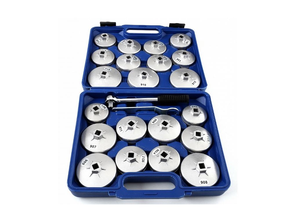 Klíče na olejové filtry, sada 22 kusů F5112