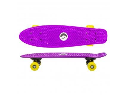 Plastový skateboard BEST SPORTING 57,5 cm fialový