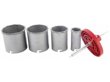 Wolframové vrtací korunky 4 ks 33 - 73 mm V03052