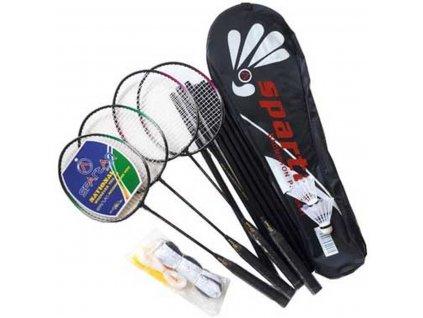 Badmintonová sada 5v1 SPARTAN PRO 500 včetně sítě, sloupků, raket, míčů a pouzdra