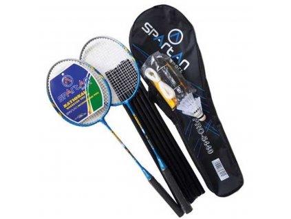Badmintonová sada 5v1 SPARTAN 300 DELUXE včetně sítě, sloupků, raket, míčů a pouzdra