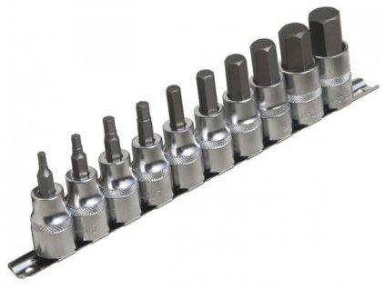Sada nástrčných klíčů HEX 1/2 10 ks, 954010