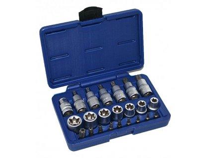 Sada nástrčných klíčů a bitů TORX 23 ks, TX SET-23