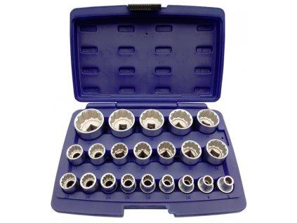 Nástrčné klíče, gola ořechy 8 - 36 mm 1/2' CR-V, sada 21ks dvanáctihranných hlavic ASTA A-SHS21