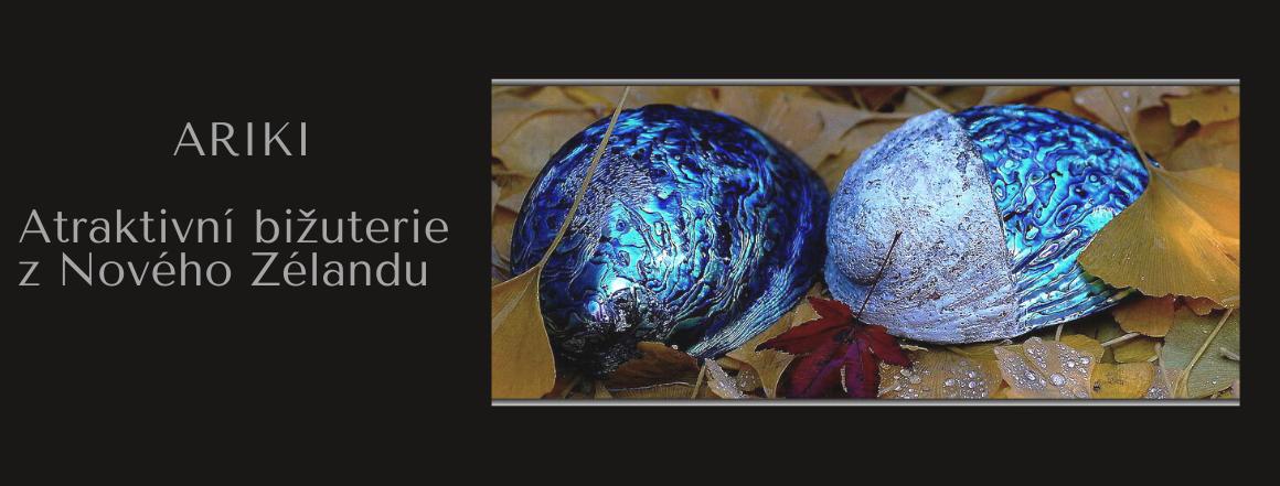 Ariki bižuterie z modré perleti