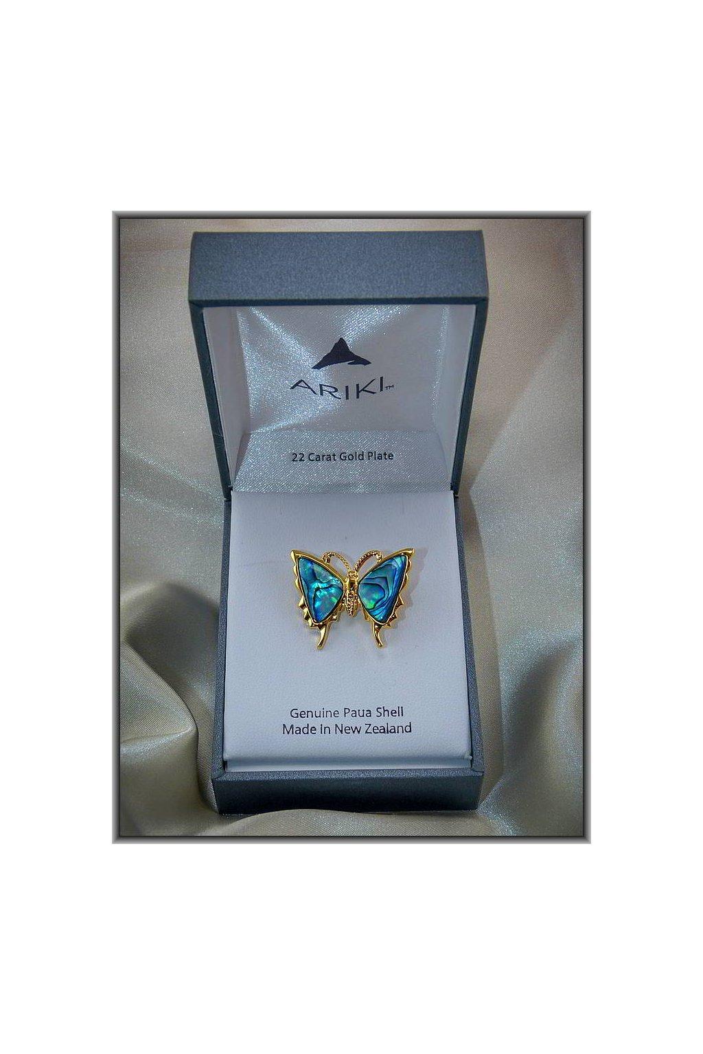 wbgarden ariki brož motýl malý gold plate