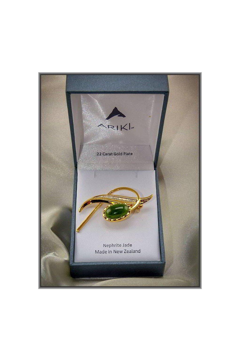 wbgarden ariki brož klasik green nefrit jade
