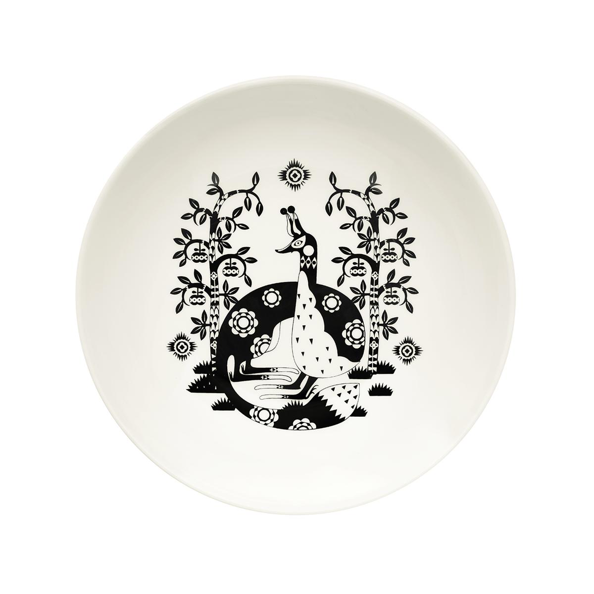 Taika_plate_deep_22cm_black
