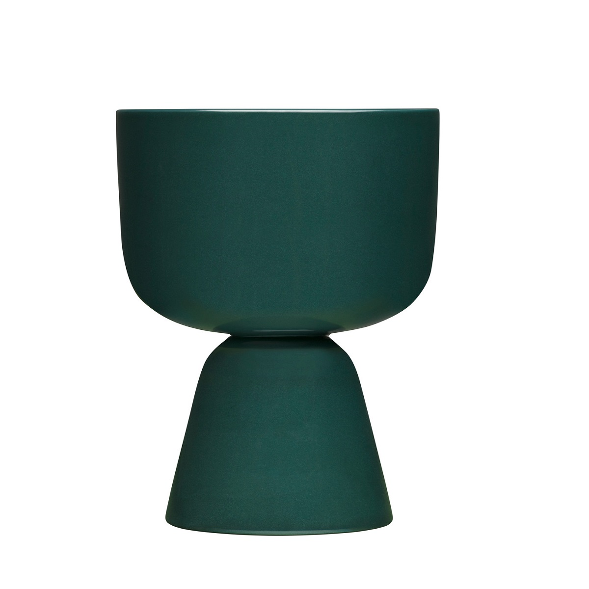 1051522 Nappula plant pot 230x155mm dark green