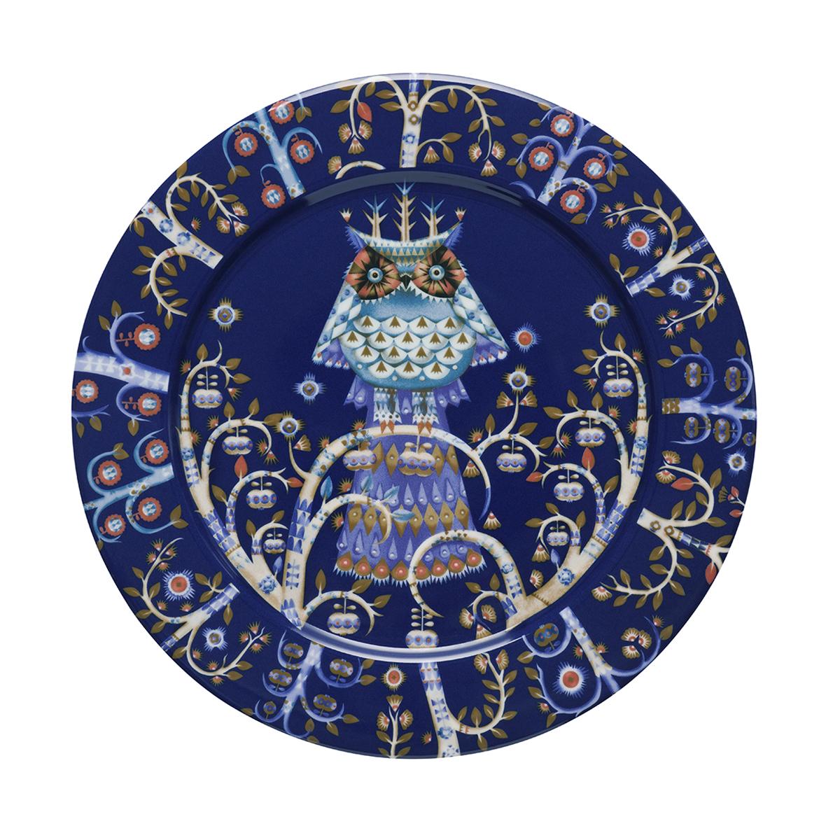 Taika_plate_27cm_blue