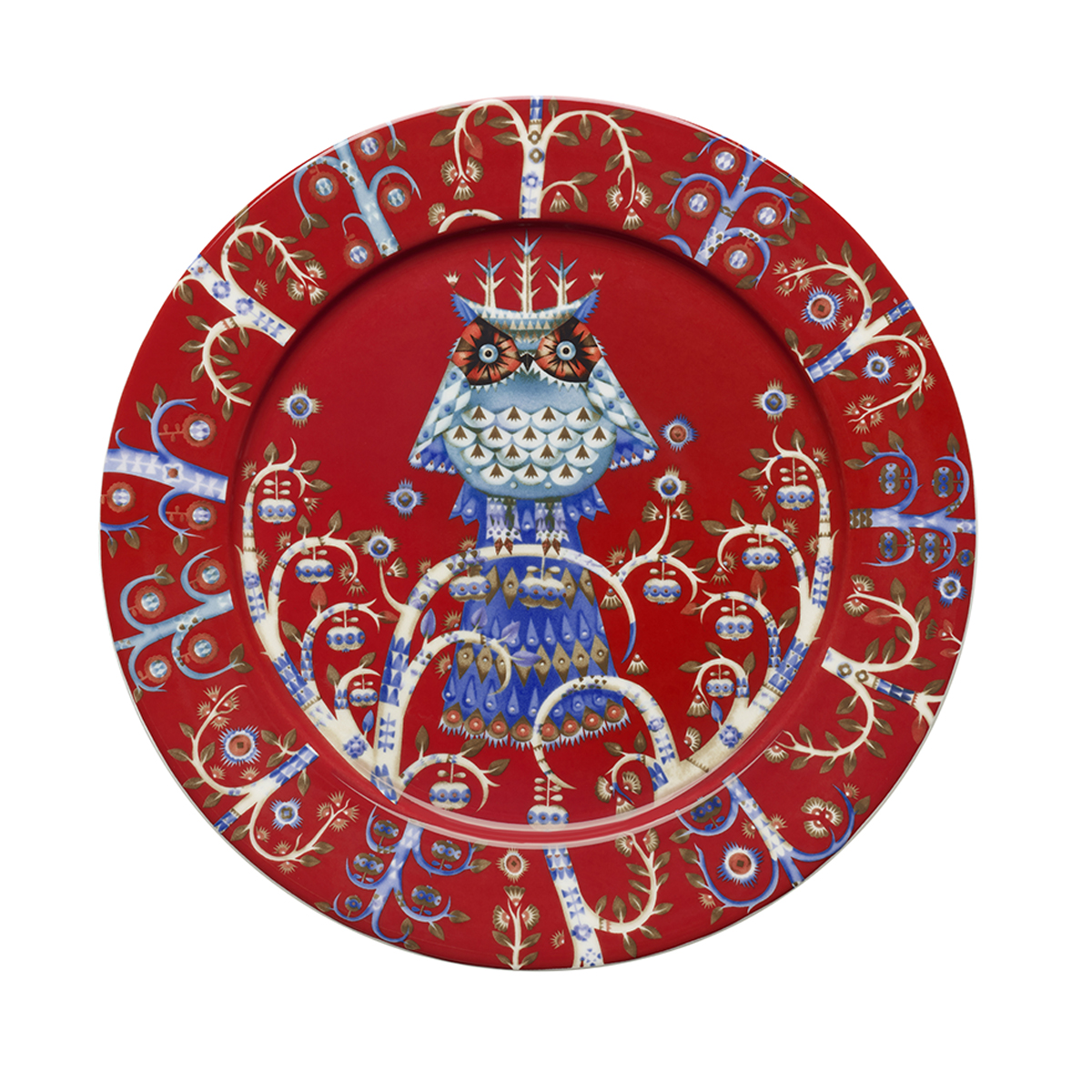 Taika_plate_27cm_red