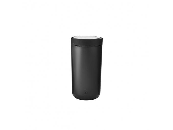 Termohrnek I:cons Stelton 0,2 l kovově černý black metallic