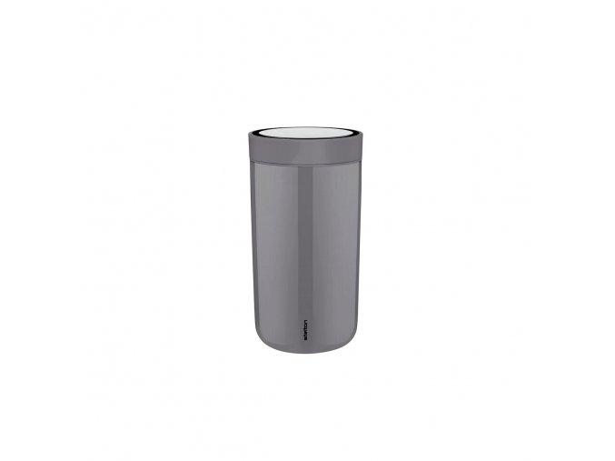 Termohrnek to go I:cons Stelton 0,2 l šedý granite grey