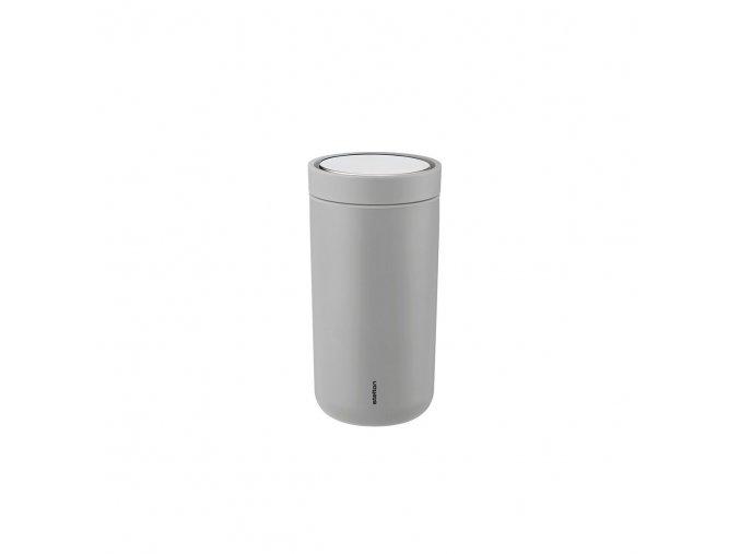 Termohrnek to go I:cons Stelton 0,2 l šedý soft light grey