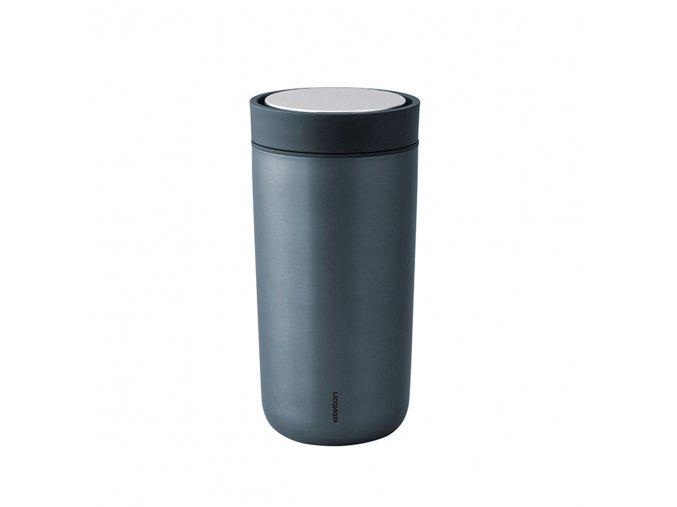 Termohrnek to go I:cons Stelton 0,4 l šedý temně modrý metalický